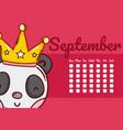 cute calendar with animals vector image