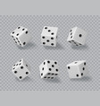 dice casino realistic gamble game cubes 3d vector image