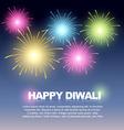 diwali fireworks vector image vector image