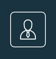 employee icon line symbol premium quality vector image vector image