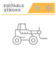 forklift telescopic loader line icon vector image vector image
