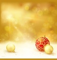 Golden Christmas design baubles light vector image vector image