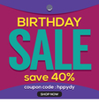 Happy Birthday Sale Banner