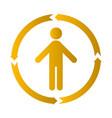 human process icon vector image