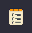 inquiry icon flat style vector image
