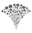 internet fountain stream vector image vector image