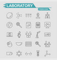 labortory icons set vector image
