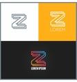letter Z logo alphabet design icon background vector image