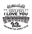mother quote mama i love you vector image