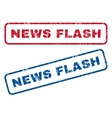 News Flash Rubber Stamps vector image vector image