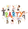 party at office vector image