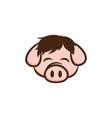 pig pork bacon theme cartoon sign vector image vector image