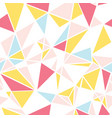 pink blue and yellow triangles abstract vector image vector image