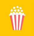 popcorn big red white strip box cinema movie vector image vector image