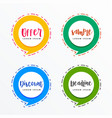 promotional banners in chat bubble style for sale vector image vector image