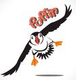 puffin bird 3 vector image vector image