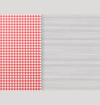 red corner tablecloth on white wood table stock vector image vector image