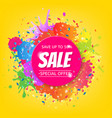 sale banner with color stain vector image vector image