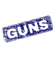 scratched guns framed rounded rectangle stamp vector image vector image