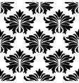 Seamless pattern with big black flowers vector image