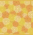 seamless pattern with retro flowers orange vector image