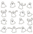 set ghost icons vector image vector image