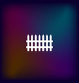 simple fence icon vector image vector image