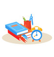 student desktop education design vector image vector image
