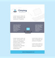 template layout for boat comany profile annual vector image vector image
