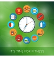 Time for fitness vector image vector image