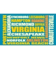Virginia state cities list vector image
