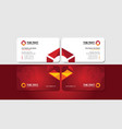 visiting card with vivid triangular hexagon vector image vector image