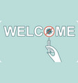 welcome to vaccinated people graphic logo vector image
