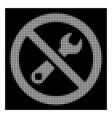 white halftone forbidden repair icon vector image vector image