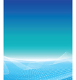 White wave business template vector image