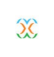 x logo stylized symbol sign element vector image vector image
