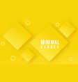 yellow abstract geometrical background vector image vector image