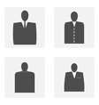 monochrome icon set with Mister silhouette vector image