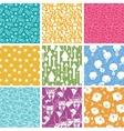 Set of nine business seamless patterns backgrounds vector image