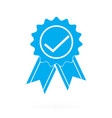 approved or certified medal icon on white vector image