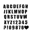 font set cut by knife vector image