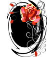 a checked rose vector image vector image