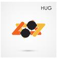 Abstract hug symbol vector image