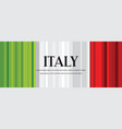 abstract italian flag banner second vector image