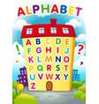 alphabet house vector image