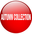 autumn collection red round gel isolated push vector image vector image
