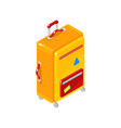 bag in isometric style vector image vector image