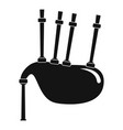 bagpipes icon simple style vector image