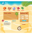 Beach background for website vector image vector image