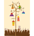 Bird little town vector image vector image